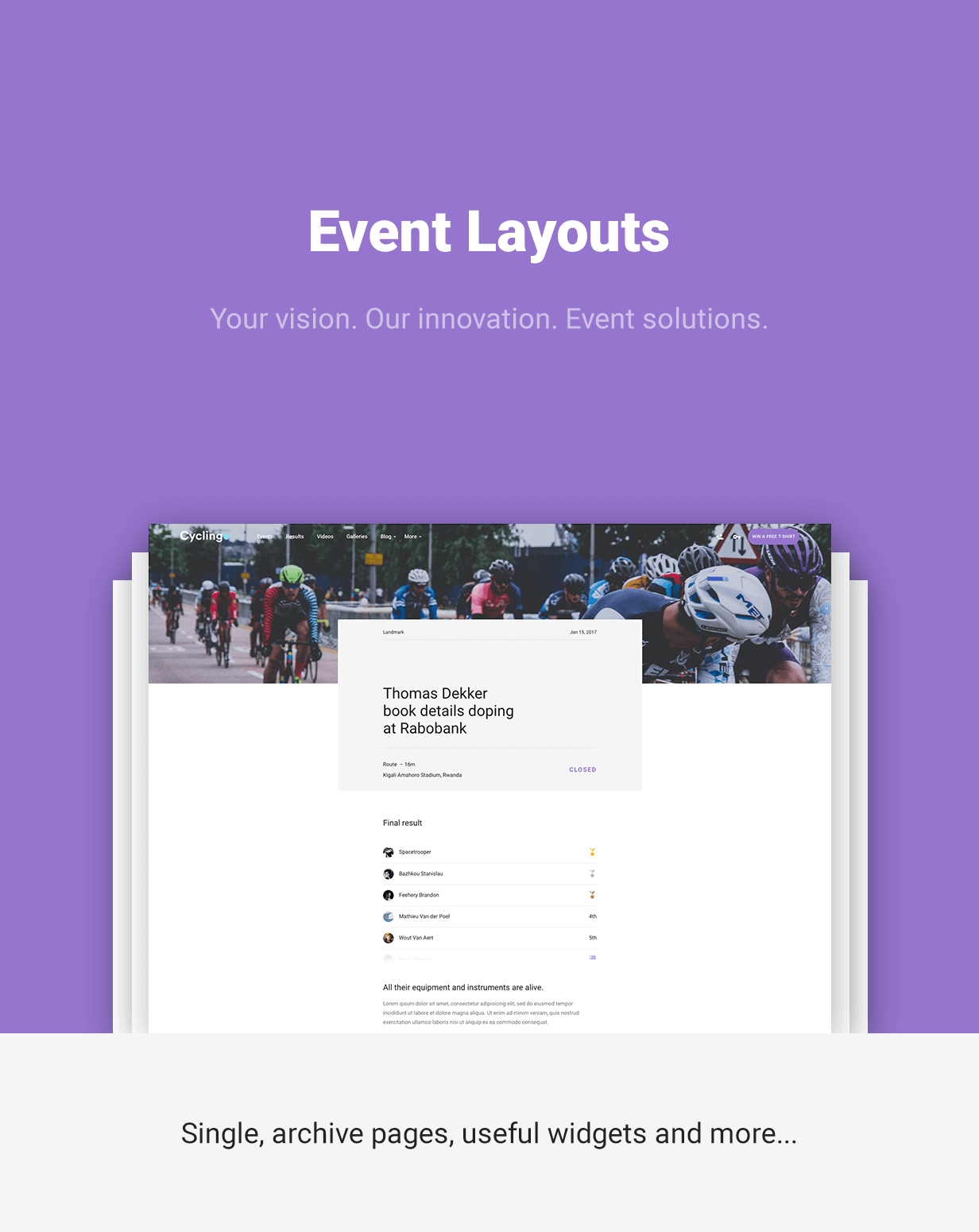 cycling event blog html template download nulled rip. Black Bedroom Furniture Sets. Home Design Ideas